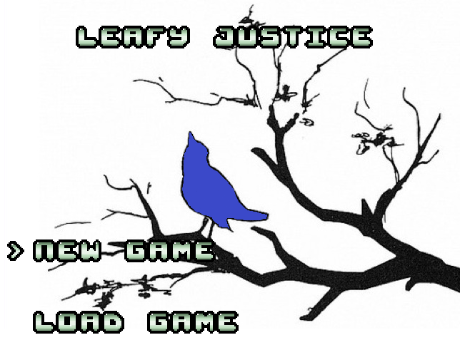 Leafy Justice - Title Screen